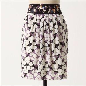 Anthropologie   Floreat Silk Skirt 2